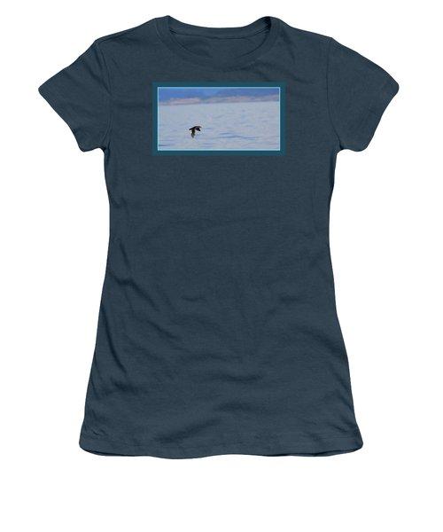 Flying Rhino Women's T-Shirt (Junior Cut) by BYETPhotography