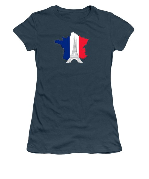 Pray For Paris Women's T-Shirt (Junior Cut) by Bedros Awak