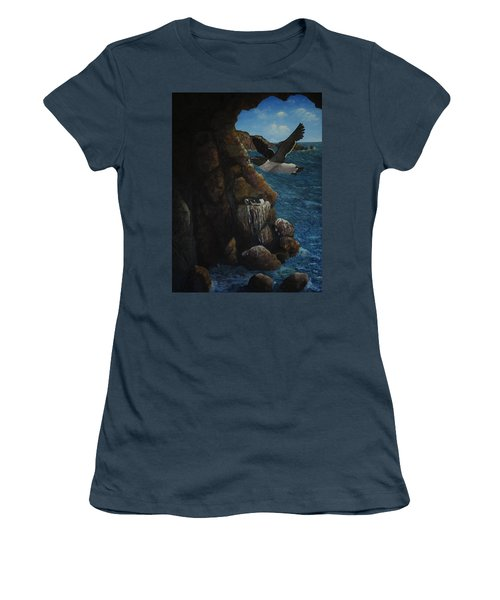 Razorbills Women's T-Shirt (Junior Cut) by Eric Petrie