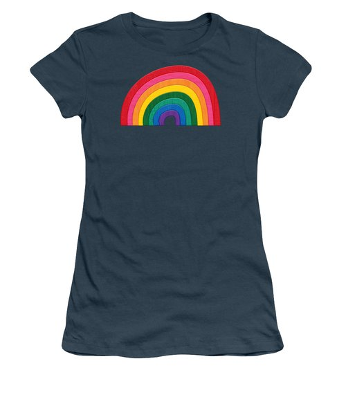 Somewhere Over The Rainbow Women's T-Shirt (Junior Cut) by Marisa Lerin