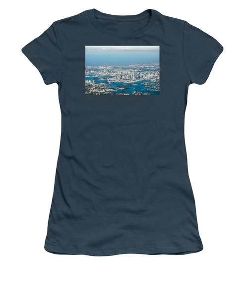 Sydney From The Air Women's T-Shirt (Junior Cut) by Parker Cunningham