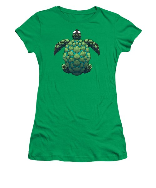 Sea Turtle Women's T-Shirt (Junior Cut) by Dusty Conley