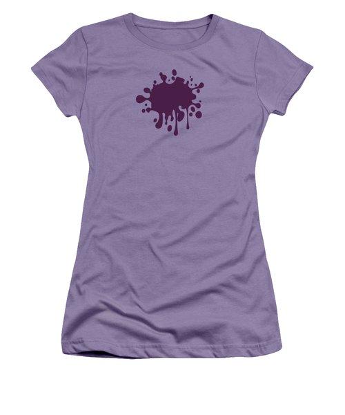 Grape Wine Solid Color Women's T-Shirt (Junior Cut) by Garaga Designs