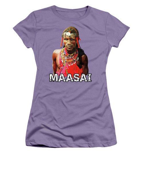 Maasai Moran Women's T-Shirt (Junior Cut) by Anthony Mwangi