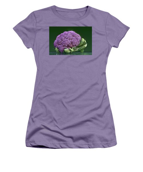 Purple Cauliflower Women's T-Shirt (Junior Cut) by Nikolyn McDonald