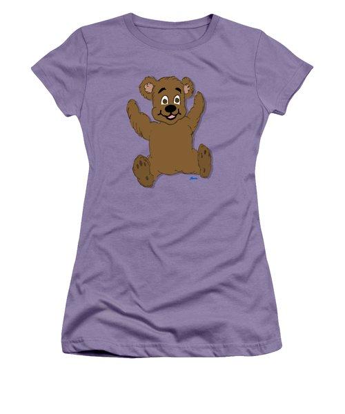 Teddy's First Portrait Women's T-Shirt (Junior Cut) by Pharris Art