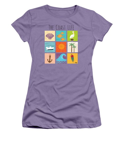 The Coast Life Women's T-Shirt (Junior Cut) by Kevin Putman