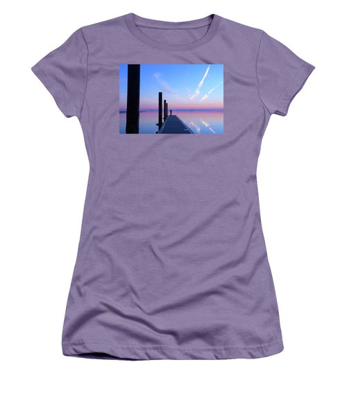 Women's T-Shirt (Junior Cut) featuring the photograph The Silent Man by Thierry Bouriat
