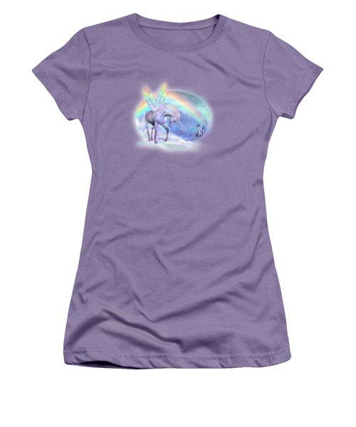 Unicorn Of The Rainbow Women's T-Shirt (Junior Cut) by Carol Cavalaris