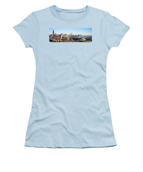 Chicago, Illinois, Usa Women's T-Shirt (Junior Cut) by Panoramic Images