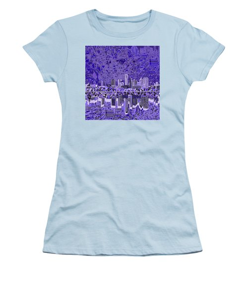 Austin Texas Skyline 4 Women's T-Shirt (Junior Cut) by Bekim Art