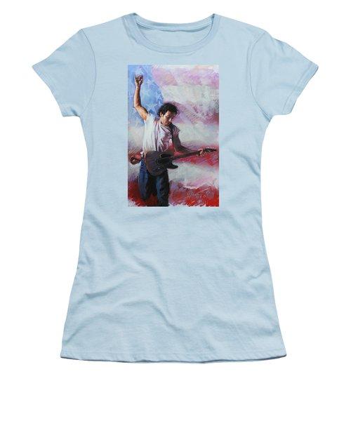 Bruce Springsteen The Boss Women's T-Shirt (Junior Cut) by Viola El