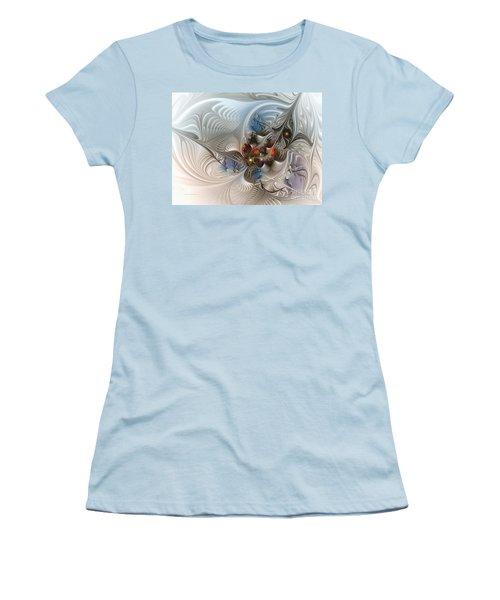 Cloud Cuckoo Land-fractal Art Women's T-Shirt (Junior Cut) by Karin Kuhlmann