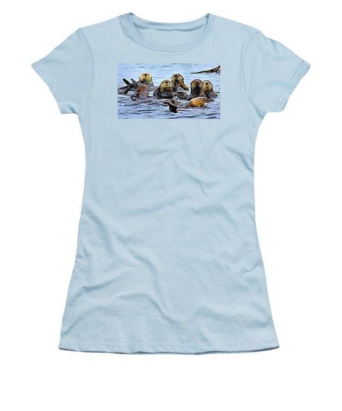 Couch Critters Women's T-Shirt (Junior Cut) by Kristin Elmquist