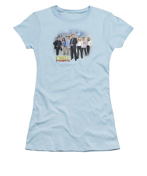 Csi - Miami Cast Women's T-Shirt (Junior Cut) by Brand A