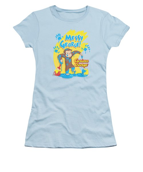 Curious George - Messy George Women's T-Shirt (Junior Cut) by Brand A