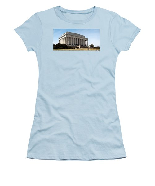 Facade Of The Lincoln Memorial, The Women's T-Shirt (Junior Cut) by Panoramic Images