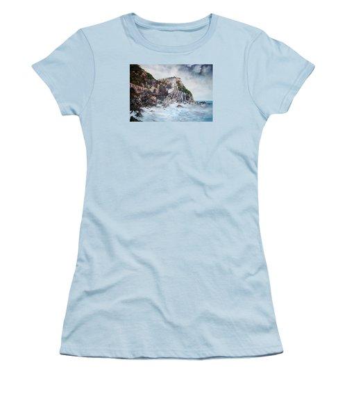Manarola Italy Women's T-Shirt (Junior Cut) by Jean Walker