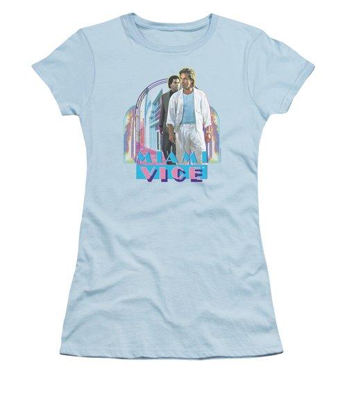 Miami Vice - Miami Heat Women's T-Shirt (Junior Cut) by Brand A
