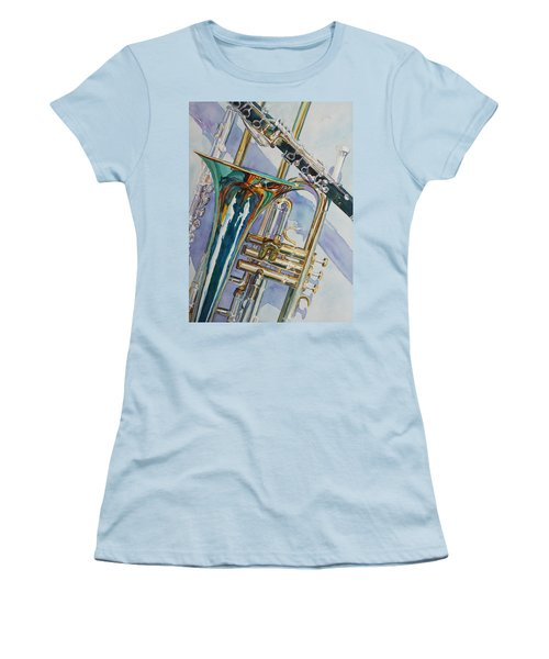 The Color Of Music Women's T-Shirt (Junior Cut) by Jenny Armitage