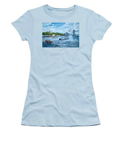 The Tower Of London Women's T-Shirt (Junior Cut) by Steve Crisp