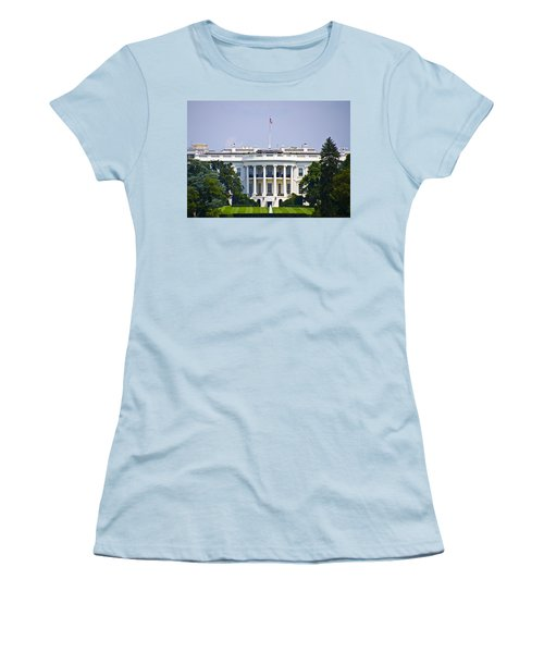 The Whitehouse - Washington Dc Women's T-Shirt (Junior Cut) by Bill Cannon