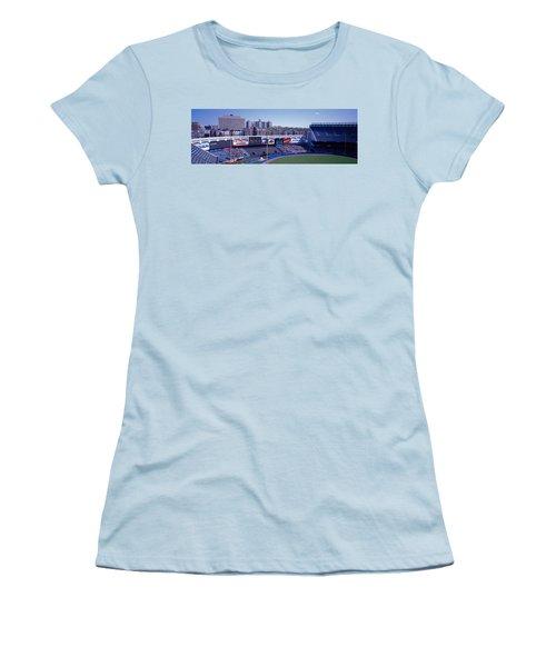 Yankee Stadium Ny Usa Women's T-Shirt (Junior Cut) by Panoramic Images