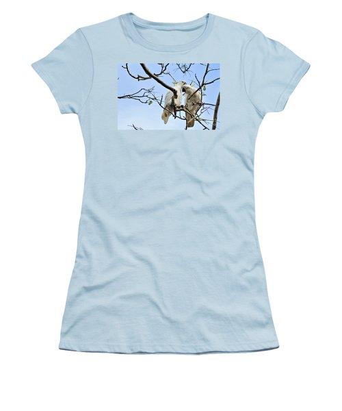 Sulphur Crested Cockatoos Women's T-Shirt (Junior Cut) by Kaye Menner