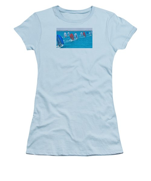 Miami Skyline Regatta Women's T-Shirt (Junior Cut) by Steven Lapkin