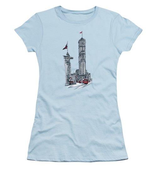 1908 Times Square,ny Women's T-Shirt (Junior Cut) by Andrzej Szczerski