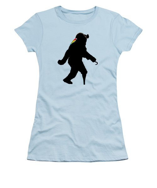 Gone Squatchin Fer Buried Treasure Women's T-Shirt (Junior Cut) by Gravityx9  Designs