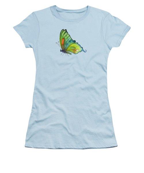 3 Perched Orange Spot Butterfly Women's T-Shirt (Junior Cut) by Amy Kirkpatrick