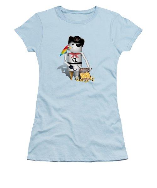 Robo-x9 The Pirate Women's T-Shirt (Junior Cut) by Gravityx9  Designs