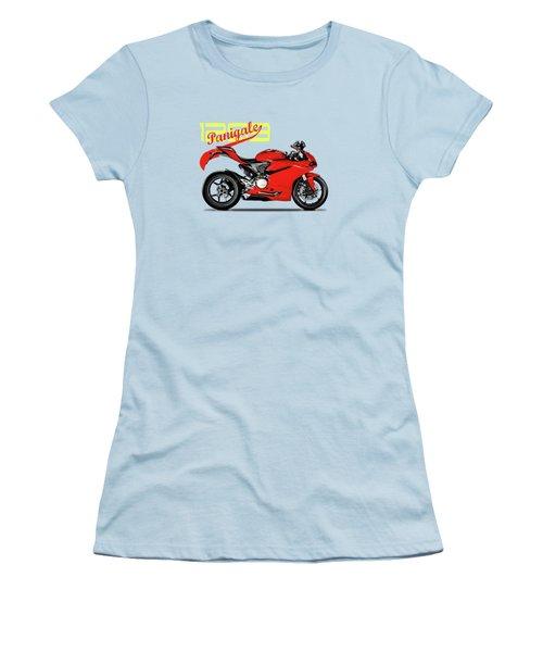 Ducati Panigale 1299 Women's T-Shirt (Junior Cut) by Mark Rogan