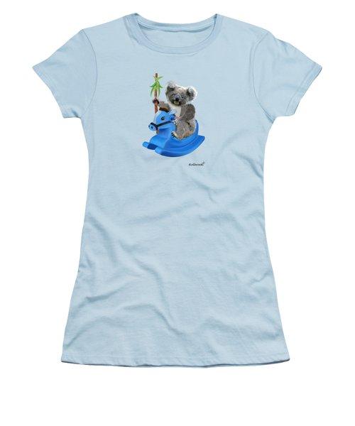 Baby Koala Buckaroo Women's T-Shirt (Junior Cut) by Glenn Holbrook