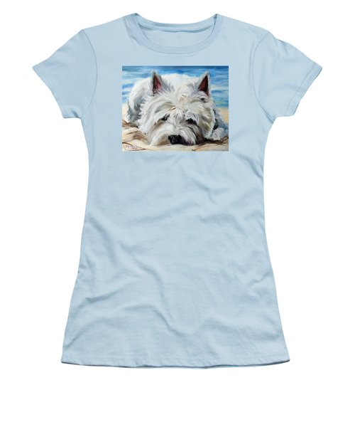 Beach Bum Women's T-Shirt (Junior Cut) by Mary Sparrow
