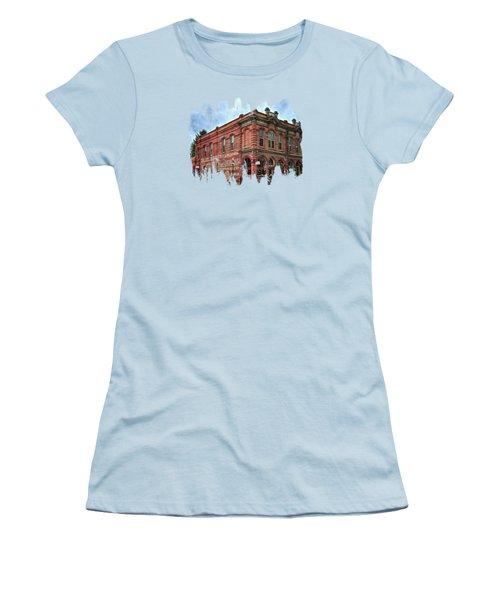 Boomtown Saloon Jacksonville Oregon Women's T-Shirt (Junior Cut) by Thom Zehrfeld