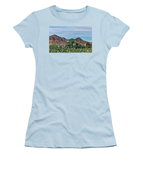 Broccoli Harvest Women's T-Shirt (Junior Cut) by Robert Bales