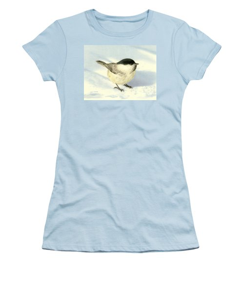 Chilly Chickadee Women's T-Shirt (Junior Cut) by Sarah Batalka