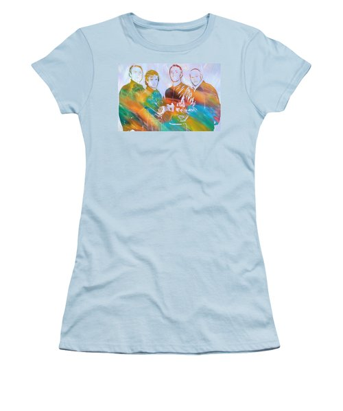 Colorful Coldplay Women's T-Shirt (Junior Cut) by Dan Sproul