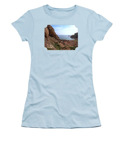 Daisies In The Granite Rocks At Corbiere Women's T-Shirt (Junior Cut) by Gill Billington