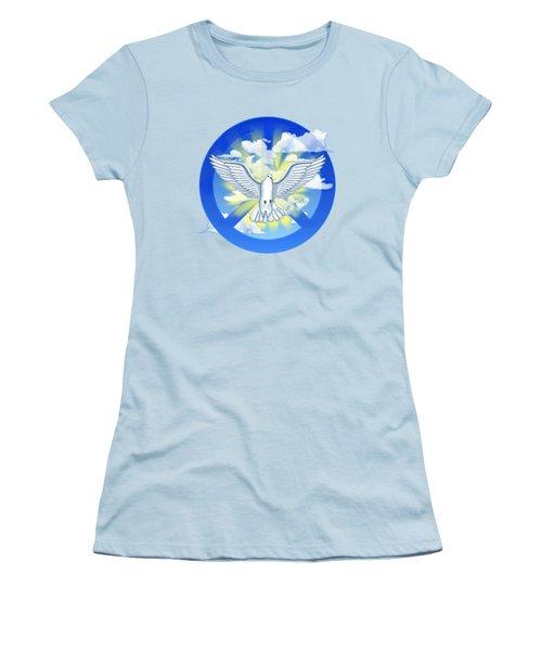 Dove Of Peace Women's T-Shirt (Junior Cut) by Chris MacDonald