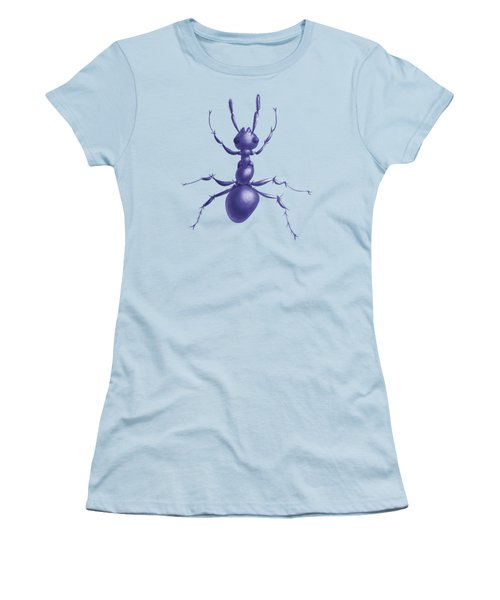 Drawn Purple Ant Women's T-Shirt (Junior Cut) by Boriana Giormova