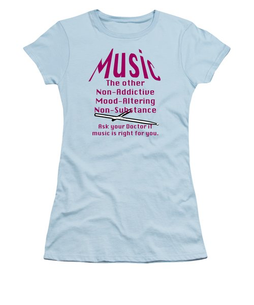 Drum Or Percussion Music Is Right For You 5493.02 Women's T-Shirt (Junior Cut) by M K  Miller