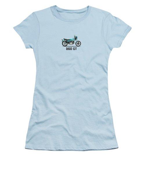 Ducati 860 Gt 1975 Women's T-Shirt (Junior Cut) by Mark Rogan