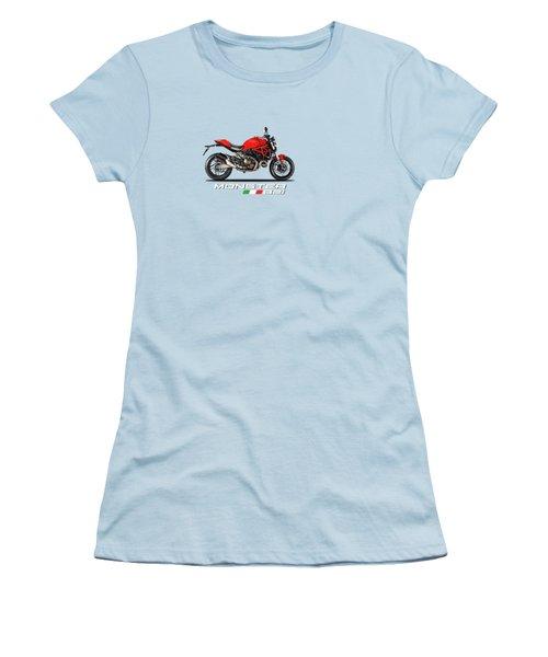 Ducati Monster 821 Women's T-Shirt (Junior Cut) by Mark Rogan