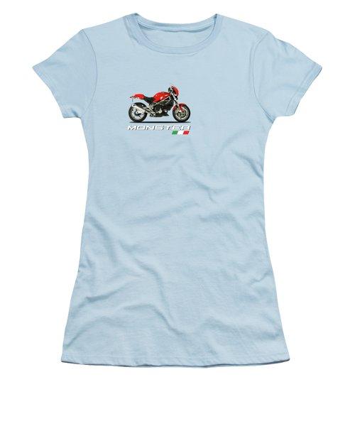 Ducati Monster S4 Sps Women's T-Shirt (Junior Cut) by Mark Rogan