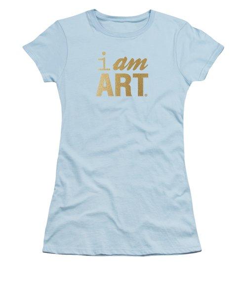 I Am Art- Gold Women's T-Shirt (Junior Cut) by Linda Woods