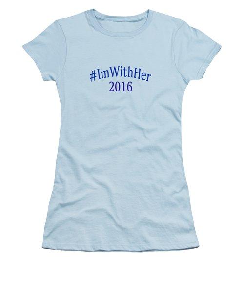 Imwithher Women's T-Shirt (Junior Cut) by Bill Owen
