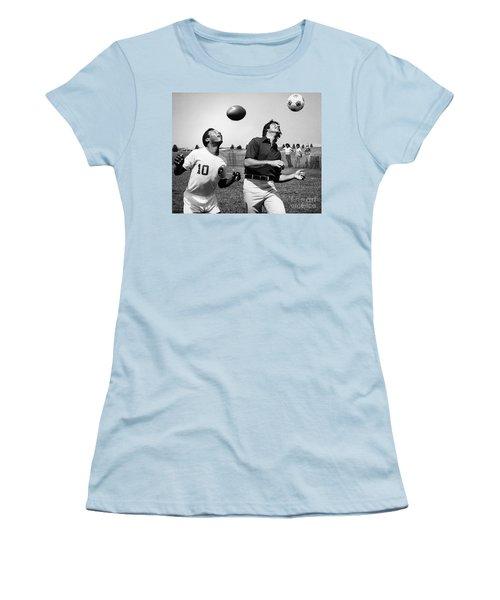 Joe Namath (1943- ) Women's T-Shirt (Junior Cut) by Granger